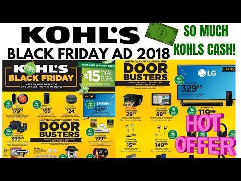 KOHLS BLACK FRIDAY AD 2018 So Many KOHLS CASH DEALS!