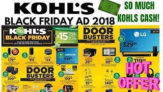 KOHLS BLACK FRIDAY AD 2018 So Many KOHLS CASH DEALS!