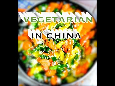 Crossing crazy streets in China just to be Vegetarian In China!