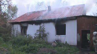 На глазах рыбака дом сгорел