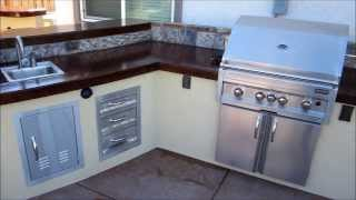 Lincoln Outdoor Kitchen W/ Pub Style End And Free Standing Bar By Gpt Construction