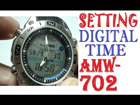 Сasio Amw 702 Manual | Setting Casio AMW-702 Digital Time