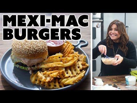 Rachael Ray Makes Mexi-Mac Burgers   Food Network