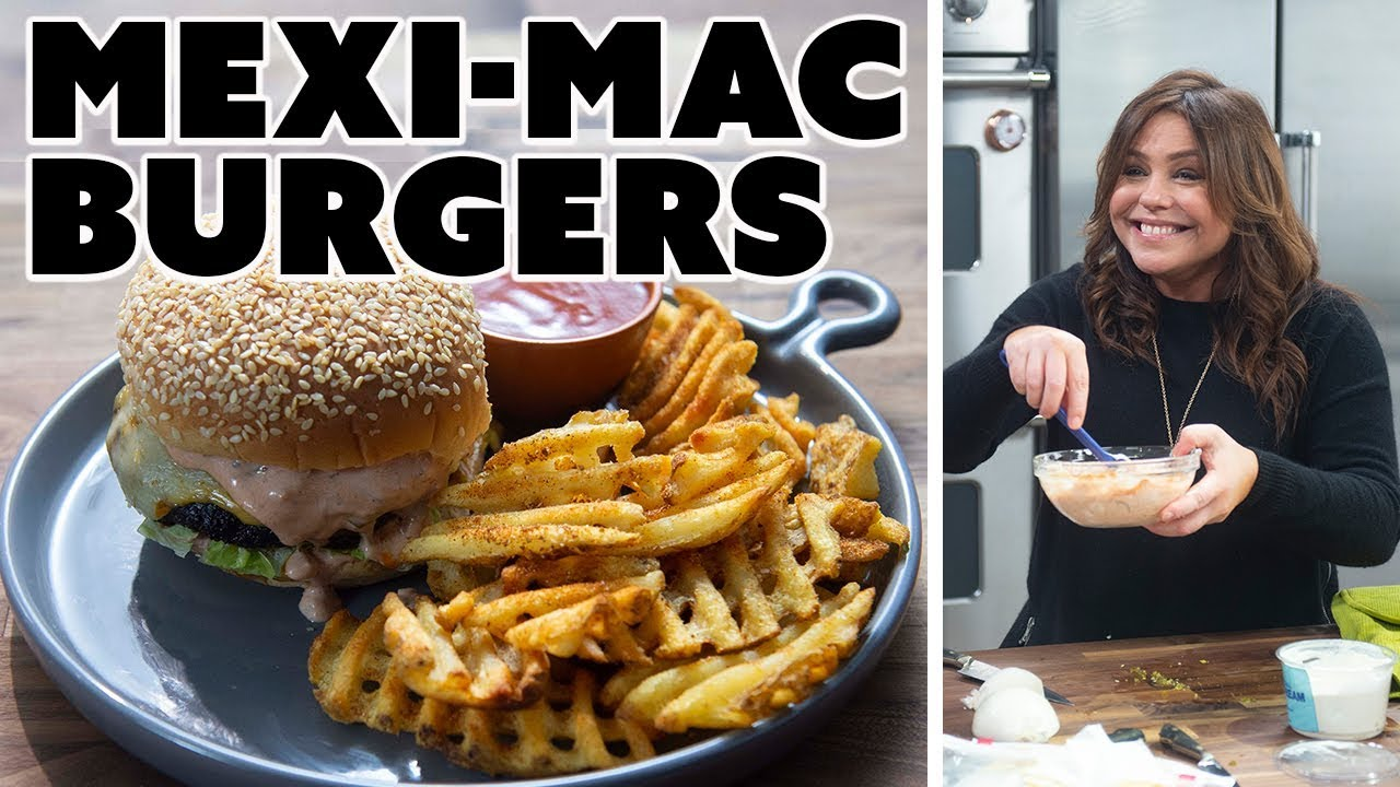Rachael Ray Makes Mexi Mac Burgers 30 Minute Meals With Rachael Ray Food Network Youtube