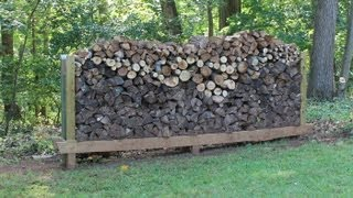 How To Build, Make A  Log Rack By Jon Peters