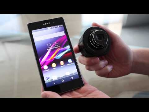 The new Xperia Z1 smartphone and QX10 smart lens from Sony