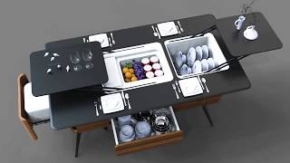 """JU"" smart dining table"