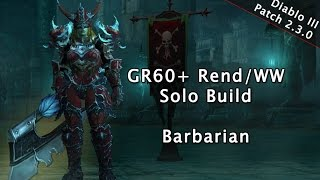 Barbarian Greater Rift 60-65+ Solo Build Guide - Season 4 Diablo III