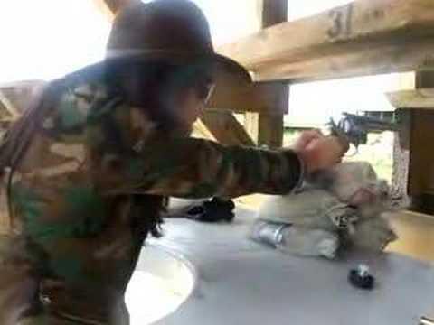 shooting .44 magnum gun