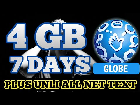 4GB Data Valid for 7 Days ( Globe Promo )
