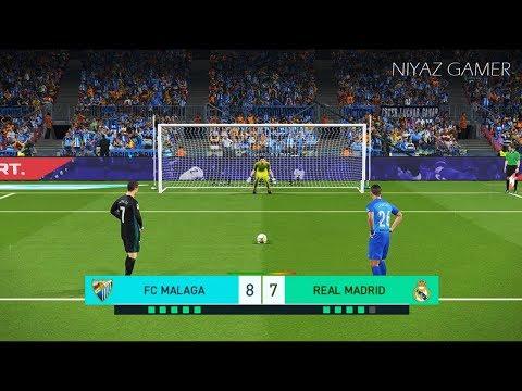 MALAGA vs REAL MADRID   Penalty Shootout   PES 2018 Gameplay PC