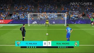 MALAGA vs REAL MADRID | Penalty Shootout | PES 2018 Gameplay PC