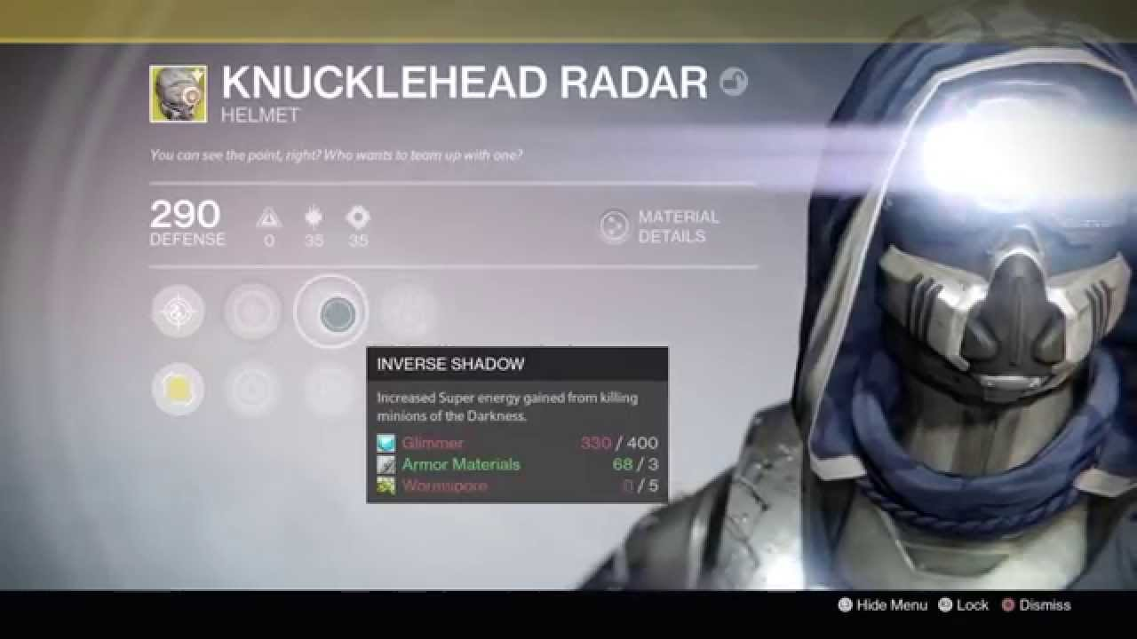 how to get knucklehead radar destiny 2