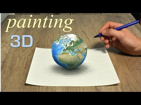 Planet Earth amazing 3D painting/ Pop Art Effect