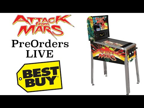 Arcade1Up Attack From Mars Pinball   Pre Orders LIVE at Best Buy from Original Console Gamer