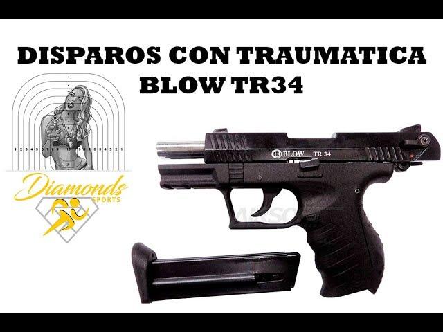 DISPAROS DE PISTOLA TRAUMATICA BLOW TR 34