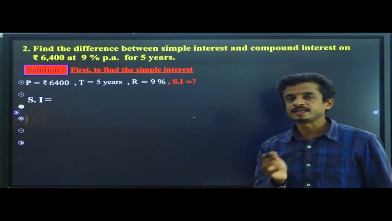 I PUC | BASIC MATHS |  SIMPLE INTEREST AND COMPOUND INTEREST- 09