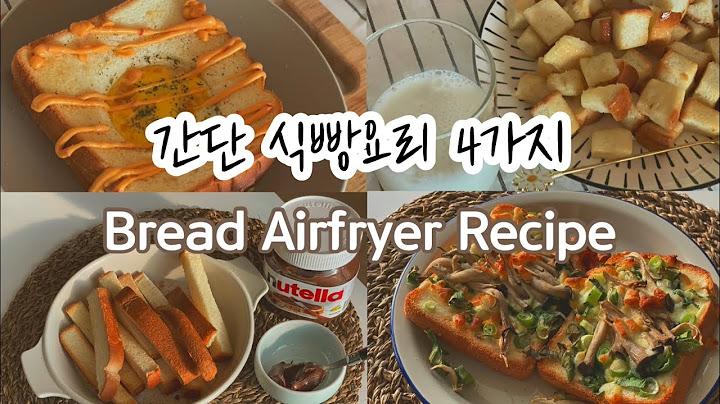 식빵요리 4가지ㅣ초간단 꿀맛 식빵 레시피 ㅣ4 bread recipes, Airfryer cookingㅣ식빵팝콘 마약토스트 식빵츄러스 대파피자
