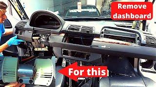 BMW X5 e53  dash removal