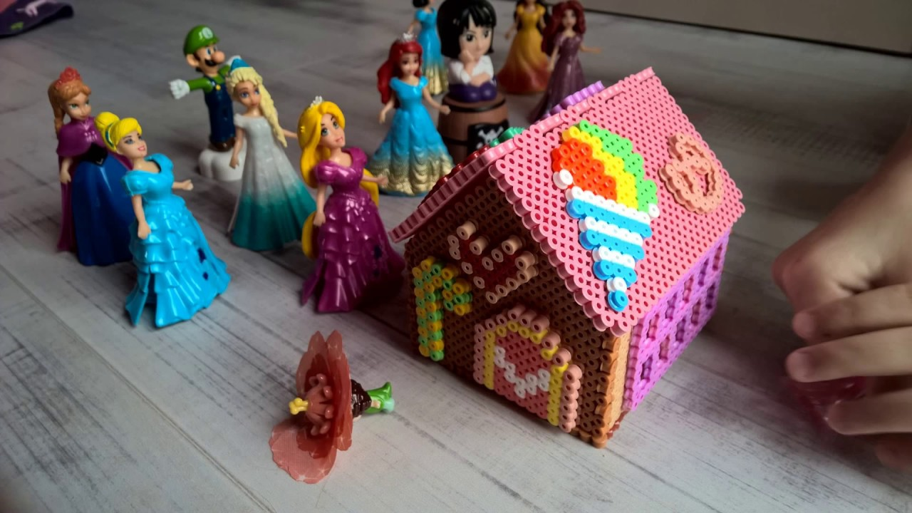 perles a repasser hama beads 3d ginger candy house youtube. Black Bedroom Furniture Sets. Home Design Ideas