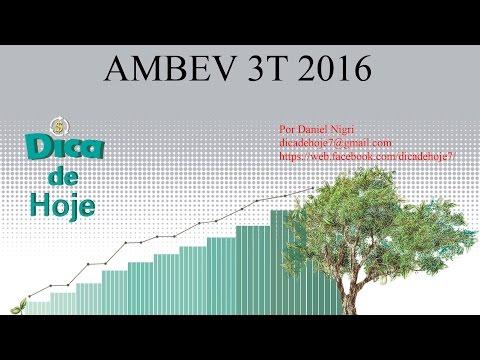 DICA DE HOJE - Ambev 3T2016