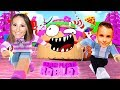 ROBLOX Little Leah Plays - MY REAL LIFE BABY BROTHER'S BIRTHDAY - ESCAPE THE EVIL CAKE OBBY!!