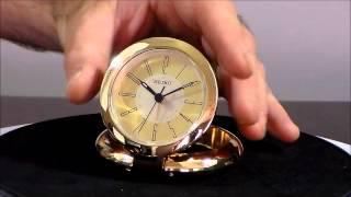 Seiko Richard Qht013glh Gold Tone Metal Travel Alarm Clock