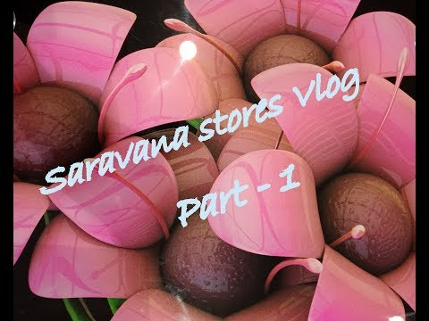 வ்லோக்  // Vlog - Part 1 - Exploring Saravana Stores, the Legend, chennai - in tamil
