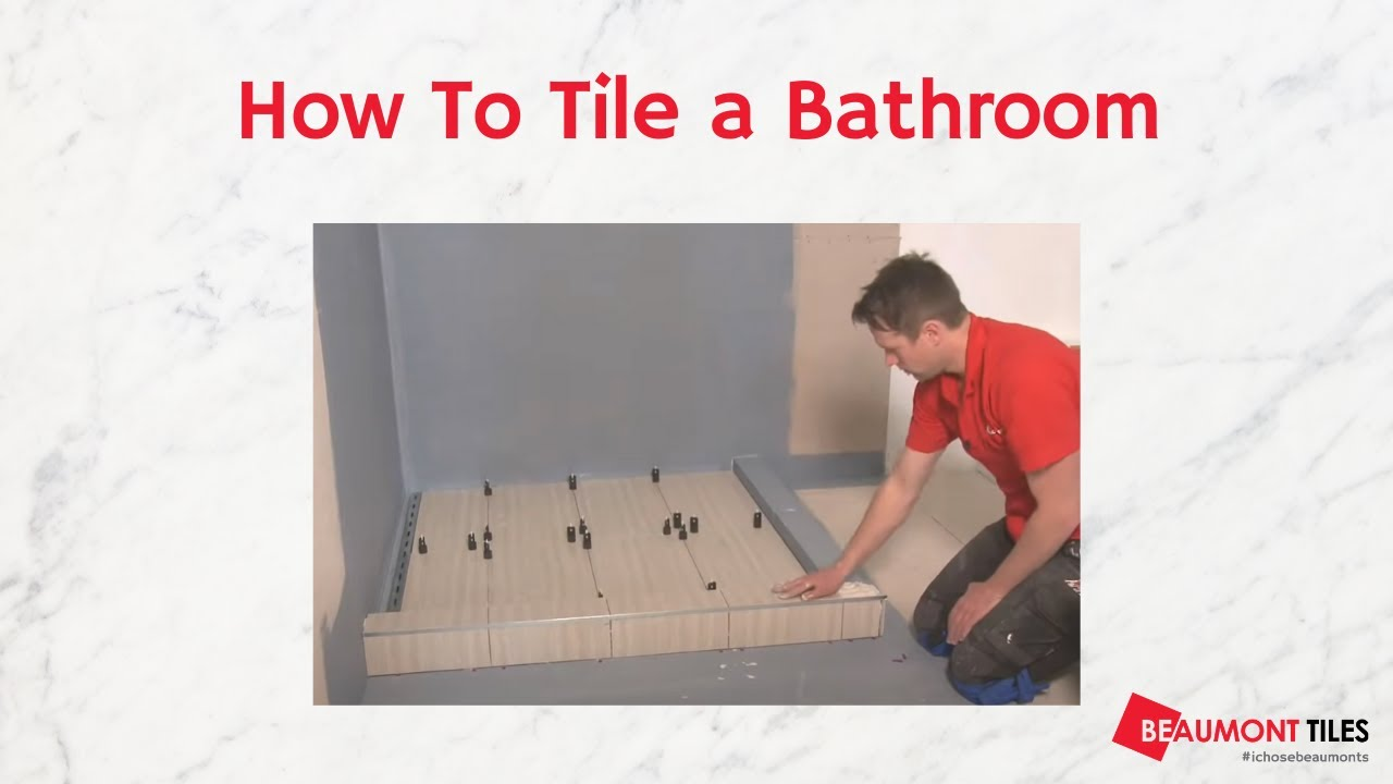 How to Tile a Bathroom: DIY Tiling Made Easy - YouTube