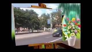 Bus ride in Mariupol, Ukraine