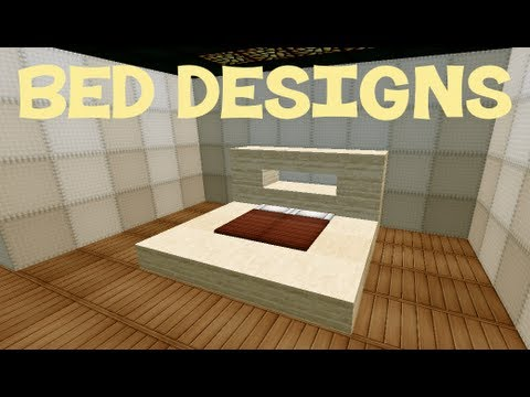 Bedroom Ideas Minecraft minecraft: bed designs - youtube
