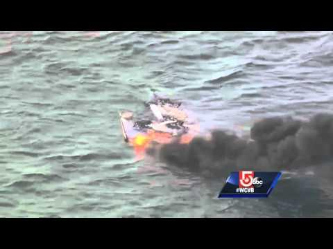 Watch: Lobster Boat On Fire Sinks