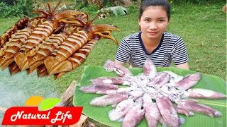 Yummy cooking squid eating delicious | Natural Life