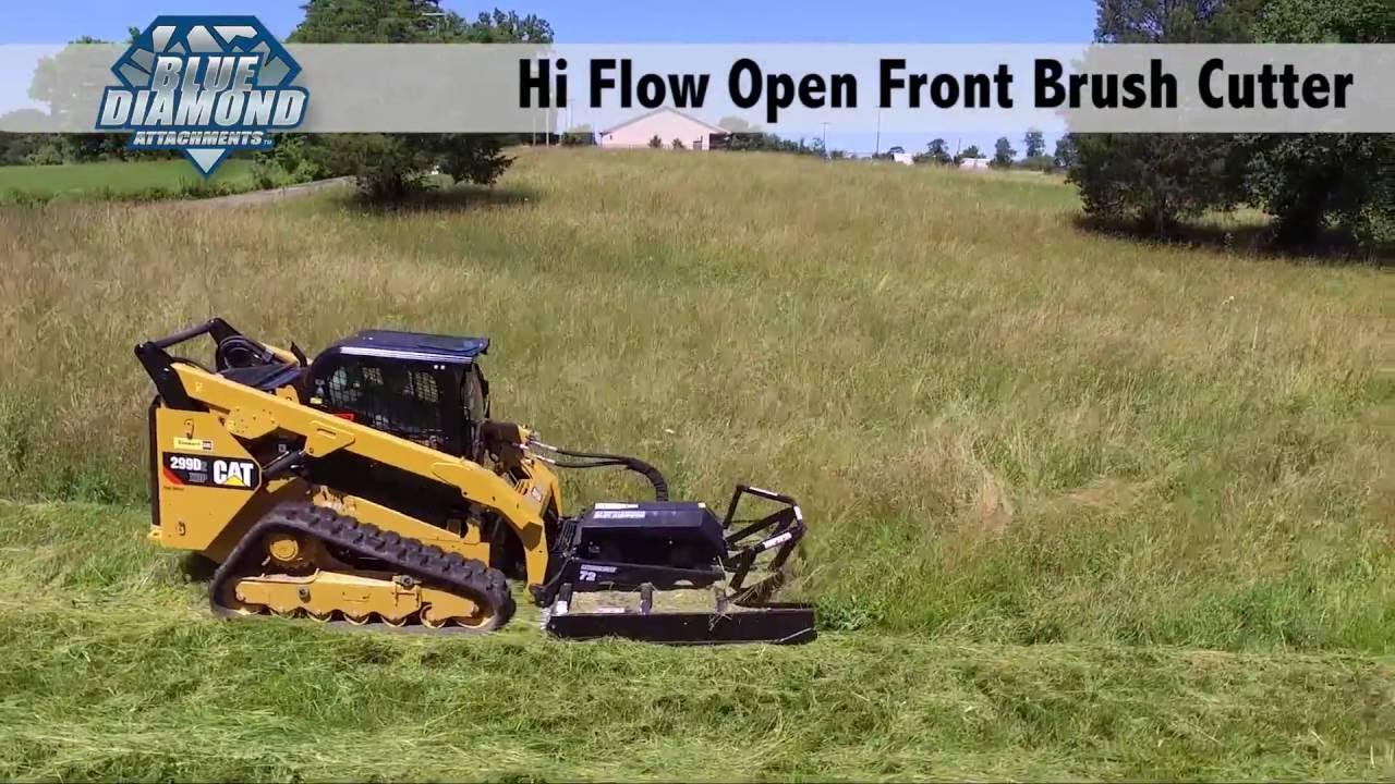 Skid Steer Brush Cutter | Open Front | Blue Diamond Attachments