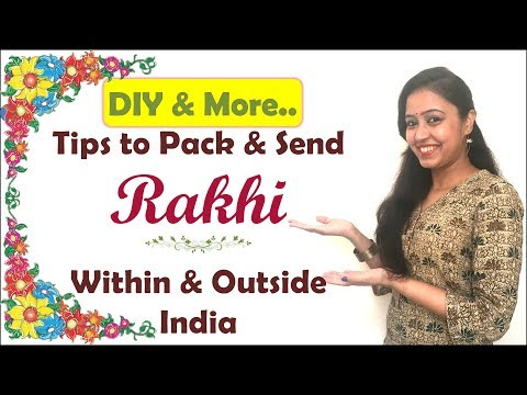 How To Pack Rakhi Within & Outside India | Rakhi Packing Ideas | How To Post Rakhi | Her Fab Way