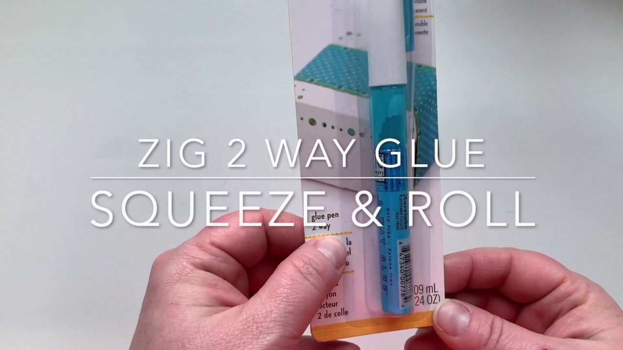 2 Way Glue Repositionable and Permanent Zig Squeeze and Roll Glue Pen Adhesive