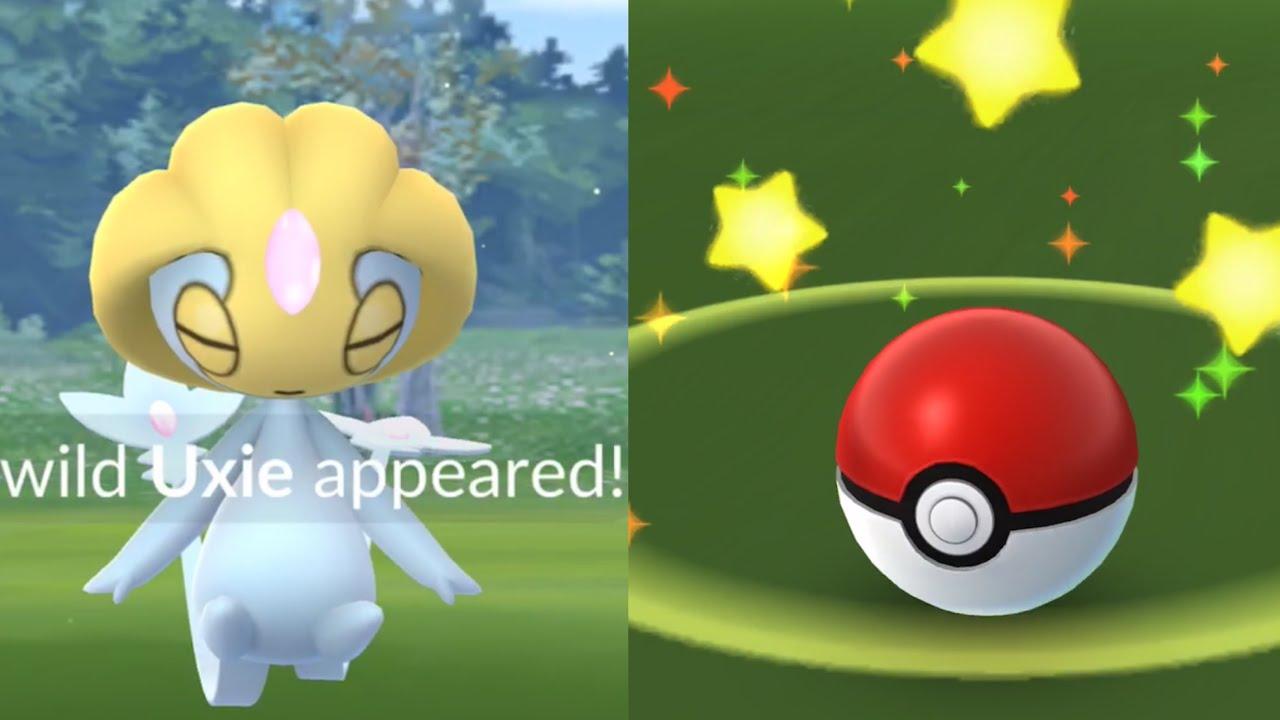 My Uxie Didnt Flee Catching Wild Uxie In Pokemon Go Youtube