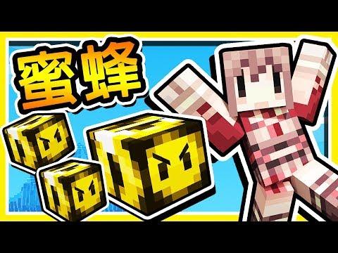 Minecraft【蜂蜜戰爭】甜美可愛の女王系 ❤妹子夥伴❤ !! 守護妳的王國 !!   全字幕