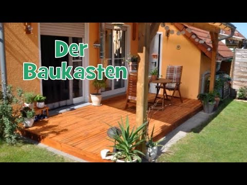 holz terrasse aus paletten bauen kosten max 100 200 super einfach in ein paar stunden. Black Bedroom Furniture Sets. Home Design Ideas