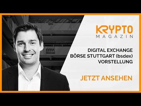 Digital Exchange - Börse Stuttgart (bsdex) - Vorstellung und Erfahrung