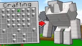CRAFTING A NEW MINECRAFT GOLEM!!