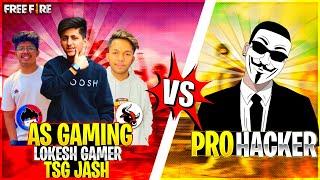 As Gaming ,Lokesh Gamer , Tsg Jash Vs Legendary Hacker Clash Squad Match 1Vs3 Epic Battle FF #3