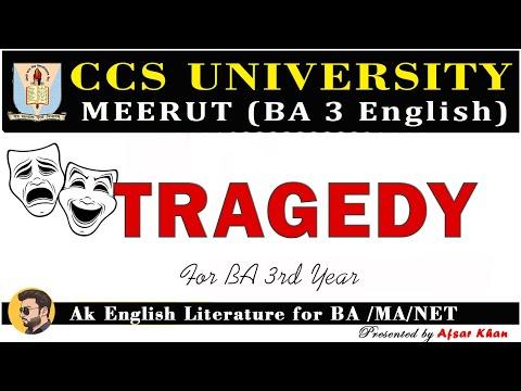 Tragedy | Greek Tragedy | Roman Tragedy | Classical Tragedy | English Literature | For BA/MA/NET