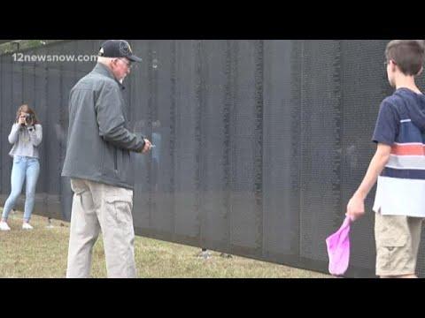 Vietnam Memorial replica wall arrives at Kountze Middle School