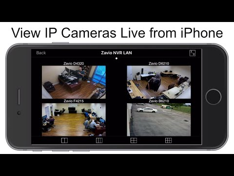 View IP Cameras Live from iPhone App