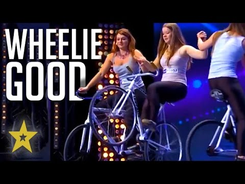 INSANE Female Pro Cyclists Have WHEELIE GOOD Bike Balance! Got Talent Global