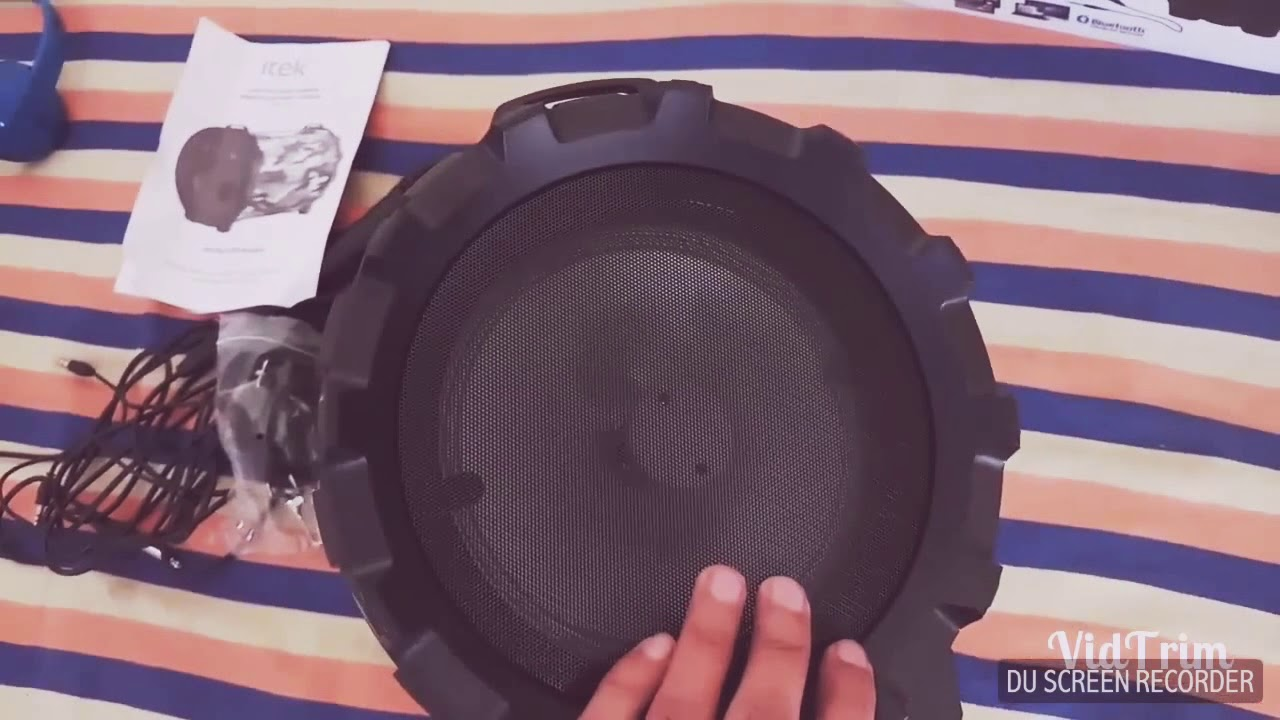 #unboxing + testing of Bluetooth speaker with led light- itek sound cannon