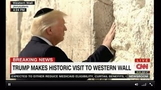 Trump makes historic visit to Western Wall in Jerusalem 1st sitting US President to do so