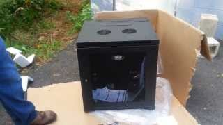 Tripp Lite SRW12US 12U Wall Mount Rack Enclosure unboxing by Intellibeam.com