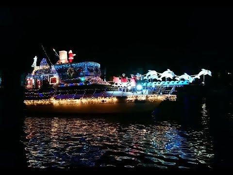 Holiday boat parade, Johns Pass, Madeira Beach Florida Dec. 2018 ...